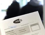AMS-Zettel mit Antrag auf Arbeitslosenunterstützung