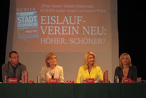 Wien heute Stadtgespräch zur Zukunft des Eislaufvereins und Heumarkt