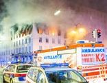 Brand am Hohen Markt in Wien