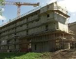 Baustelle einer Wohnsiedlung