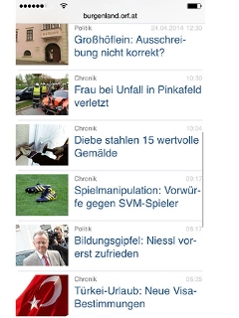 Screenshot burgenland.ORF.at