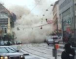 Rauchwolke über der Äußeren Mariahilferstraße