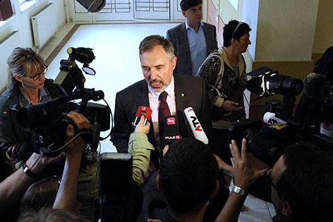 EU-Mandatar Ewald Stadler am Dienstag, 29. April 2014, anl. des Prozesses gegen ihn wegen Nötigung im Straflandesgericht Wien