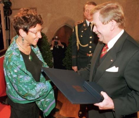 Jiřina Šiklová a Václav Havel