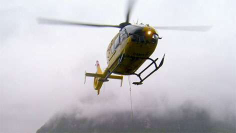 Rettungsaktion der Bergrettung in Hallstatt