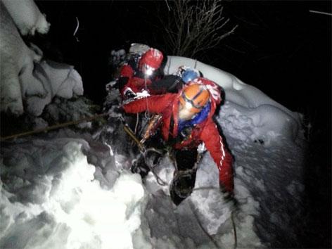 Rettungsaktion im Schneetreiben