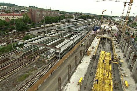 Baustelle Betriebsbahnhof U4 in Heiligenstadt
