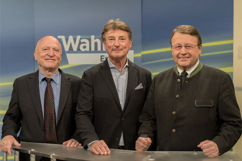 v.l.: Josef Weidenholzer (SPÖ), Franz Obermayr (FPÖ), Paul Rübig (ÖVP)