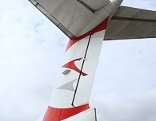 Flugzeugflügel der Austrian Airlines