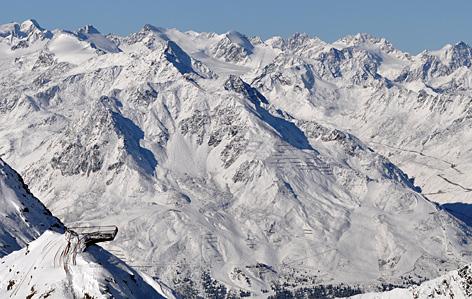 Metellplattform in den Bergen