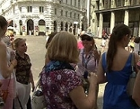 Russische Touristen in der Wiener Innenstadt