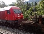 ÖBB Diesellok Bauzug Bahn Eisenbahn Bundesbahn Lokomotive Gleisbau Gleis Schienen