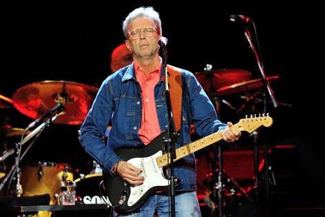Eric Clapton beim Konzert in der SAP Arena in Mannheim, Deutschland, 24 Juni 2014