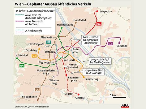 Geplanter Ausbau öffentlicher Verkehr