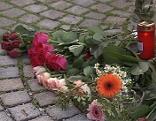 Blumen beim Tatort Raubmord in Bad Reichenhall