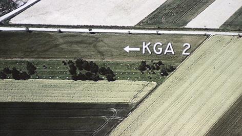 Luftaufnahme von Kreisgrabenanlage in Rechnitz