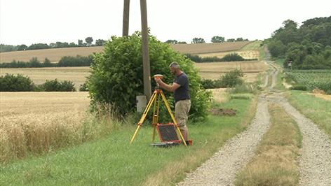 Kreisgrabenanlage in Rechnitz wird vermessen
