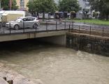 Bach Wasser Hochwasser