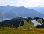 Blick von der Schmittenhöhe hinunter zum Zeller See