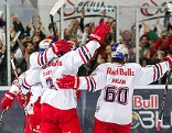 Torjubel Red Bull Salzburg nach dem 1:0 Treffer durch David Meckler während des Erste Bank Eishockey-Final-Spiels, zwischen EC Red Bull Salzburg und HCB Südtirol