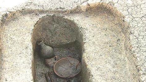 Fundstücke aus dem römischen Grab