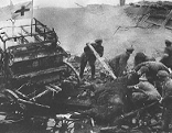 Altes Schwarz-Weiß Bild vom Krieg 1914