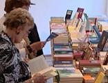 Bücherstand beim Poetenfest auf Burg Raabs