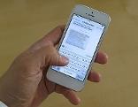 SMS Textnachricht auf Smartphone (iPhone)