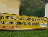 Steinbruch Protest Bürgerinitiative Großstübing