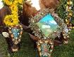 Geschmückte Kühe beim Almabtrieb