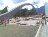 Baustelle Eisenbahnbrücke