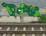 Graffiti bei ÖBB-Anlagen in Salzburg