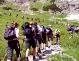Wanderer beim Karwendelmarsch