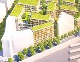 Modell des neuen Kaufhausprojektes