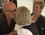 Peter Lohmeyer trifft als Tod des Jedermann zwei Hörerinnen von ORF Radio Salzburg