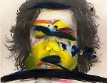 Arnulf Rainer, Face Farces: Farbstreifen, 1972