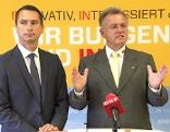 Robert Hergovich und Hans Niessl nach dem Parteivorstand