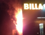 Brand Billa Lager in Stams