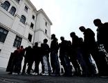 Asylwerber in Asyl-Erstaufnahmestelle Traiskirchen