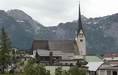 Kirche und Ortszentrum von Abtenau (Tennengau)