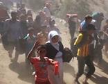 Flüchtlinge unterwegs