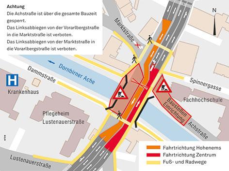 Sägerbrücke Dornbirn Grafik