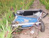Teil des Unfallautos