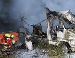 Wohnmobile ausgebrannt