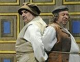 "Michael Pink, Michael Niavarani und Bernhard Murg in ""Richard III."" im Globe Theater"
