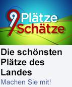 """Promo-Button """"9 Plätze, 9 Schätze"""""""