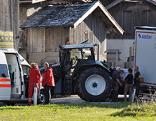 Unfall Stockach Traktor gegen Lkw
