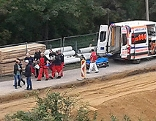 Rettungskräfte bei Arbeitsunfall in Simmering