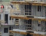 Baustelle Wohnbau Wohnhaus