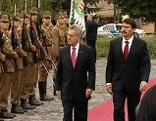 Heinz Fischer mit Janos Ader beim Staatsbesuch in Ungarn